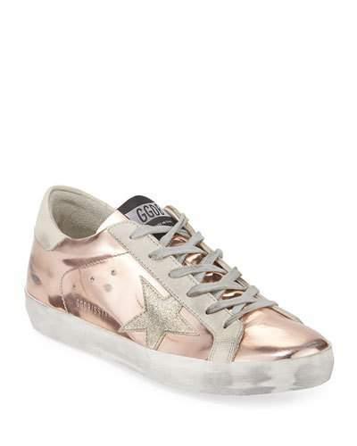 Golden Goose Superstar Metallic Platform Sneakers