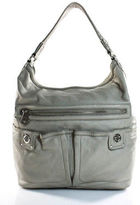 Marc by Marc Jacobs Gray Leather Hobo Handbag Size Large