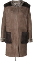 Manzoni 24 - fox fur lined suede coat - women - Fox Fur/Suede - 44