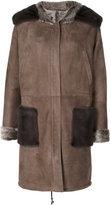 Manzoni 24 - fox fur lined suede coat