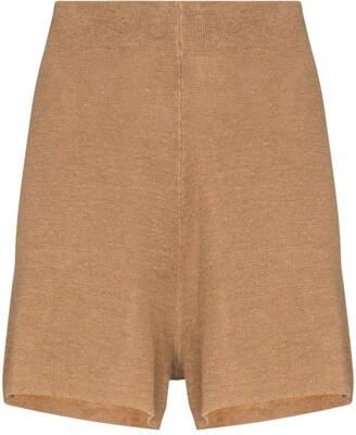 ST. AGNI Spencer linen shorts