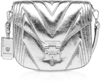 MCM Quilted Metallic Leather Patricia Shoulder Bag