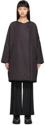 Pleats Please Issey Miyake Black Clip Coat