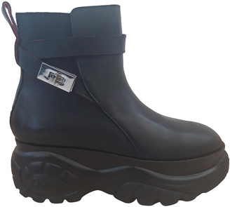 032c Black Leather Boots