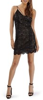 Topshop Women's Strappy Lace Plunge Minidress