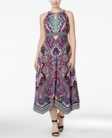 INC International Concepts Plus Size Halter Midi Dress, Only at Macy's