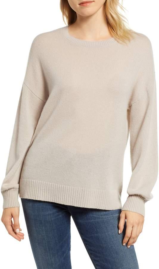 Velvet by Graham & Spencer Blouson Sleeve Cashmere Sweater