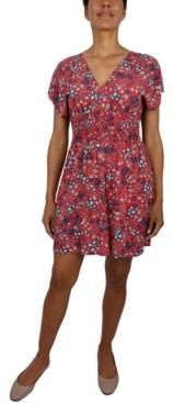 BeBop Juniors' Floral Fit & Flare Dress