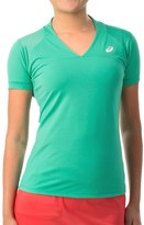 Asics Athlete T-Shirt - V- Neck, Short Sleeve (For Women)