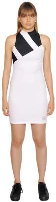 adidas Stretch Mesh Intarsia Stripe Dress