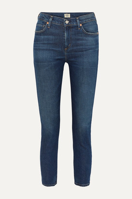 Citizens of Humanity Harlow Mid-rise Straight-leg Jeans - Dark denim