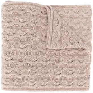 Agnona Cashmere Cable Knit Scarf