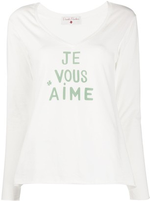 Danielapi Graphic-Print V-Neck Top