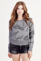 True Religion Floral Print Womens Pullover