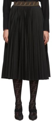 Fendi Black Forever Pleated Skirt