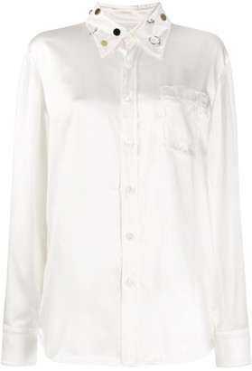 Marni Embellished-Collar Long-Sleeve Shirt