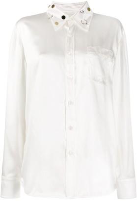 Marni embellished-collar long-sleeve shirt