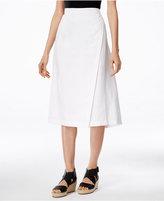 Eileen Fisher Faux-Wrap Midi Skirt
