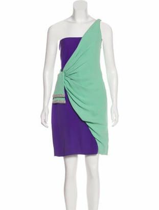 Valentino Silk Cocktail Dress Mint