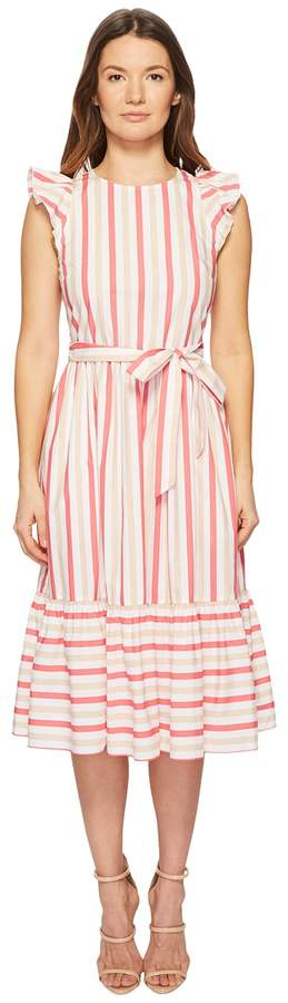 Kate Spade Stripe Poplin Midi Dress Women's Dress