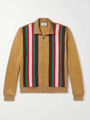 Gucci Slim-Fit Webbing-Trimmed Tech-Jersey Track Jacket