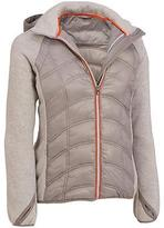 Black Rivet Womens Active Sweater Knit Puffy Jacket