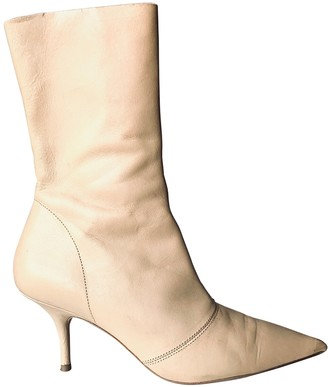 Yeezy Beige Leather Ankle boots
