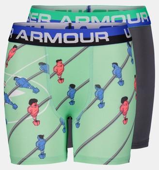 Under Armour Boys' UA Foosball Boxerjock 2-Pack