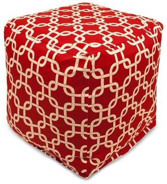 Majestic Home Goods Links Indoor/Outdoor Bean Bag Cube, Multiple Colors