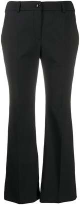 Boutique Moschino Black Bootcut Trousers