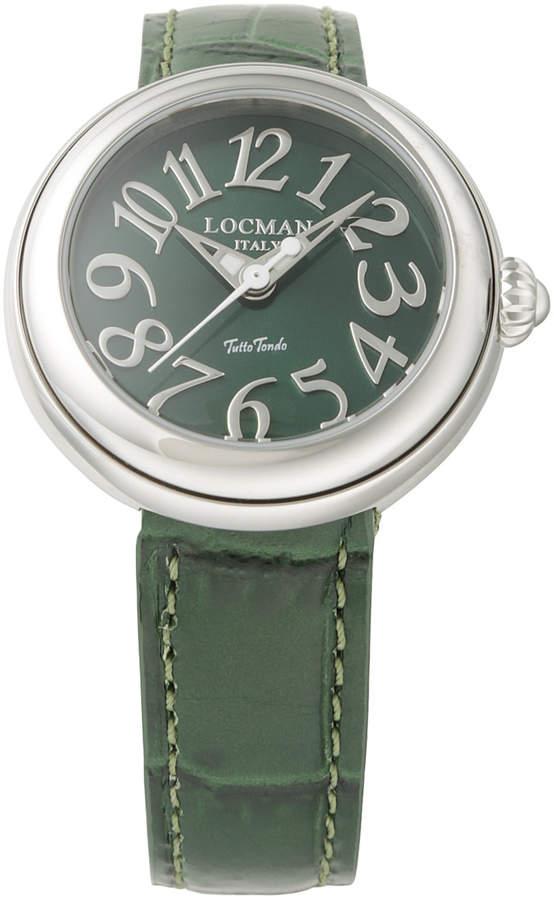 Locman (ロックマン) - LOCMAN ラウンドウォッチ ウィメンズ ケース:グリーン ベルト:グリーン
