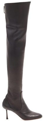 Francesco Russo Zipped Leather Knee-high Boots - Black