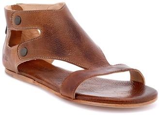 Bed Stu Leather Cutout Back-Zip Sandals - Soto
