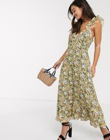 Talulah sunny days floral midi dress in summer breeze