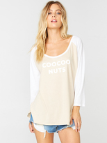 The Laundry Room Coocoo Big Babe Tee in Nude