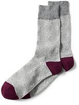 Classic Men's Cotton Pattern Dress Socks (1-pack)-Vachetta