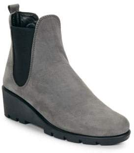 The Flexx Slimmer Leather Wedge Ankle Boots