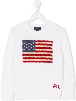 Ralph Lauren Kids USA flag sweater