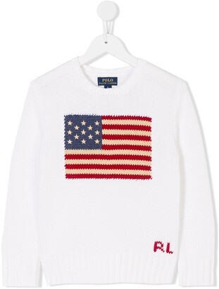 Ralph Lauren Kids USA flag sweater