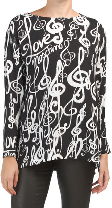 Printed Blouse With Zipper Cuffs