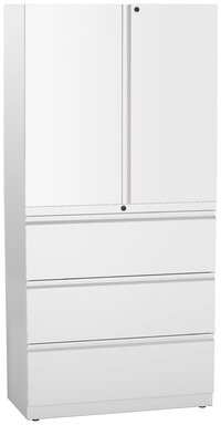 Ber 2 Door Storage Cabinet Rebrilliant Finish: Medium Tone