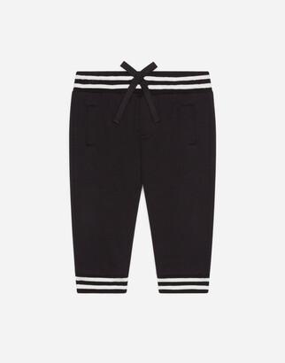 Dolce & Gabbana Ribbed Jersey Jogging Pants