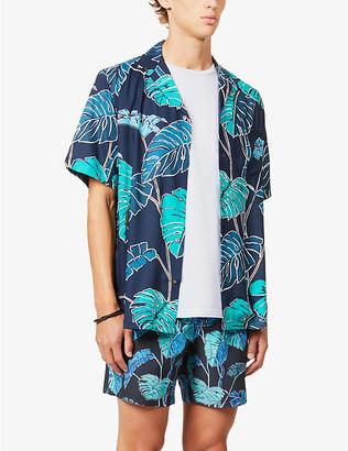 Reyn Spooner Kainapu leaf-print woven shirt