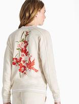 Lucky Brand Embroidered Bird Bomber Jacket