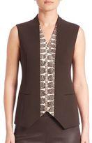 Akris Snakeskin & Wool Vest