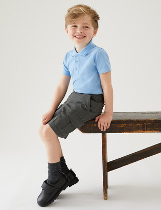 Marks and Spencer 2 Pack Boys' Regular Leg Cargo Shorts
