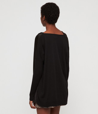 AllSaints Erma Cowl Neck Sweater