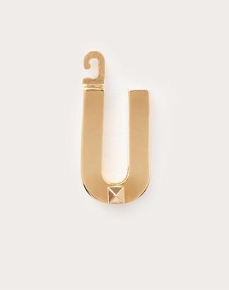 "Valentino Garavani Call Me u"" Charm Women Gold Brass 100% OneSize"