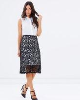 Dorothy Perkins 2-in-1 Lace Skirt Midi Dress