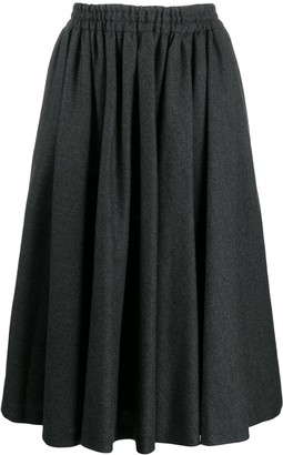 Valentino Pre Owned 1990's Gathered Midi Skirt